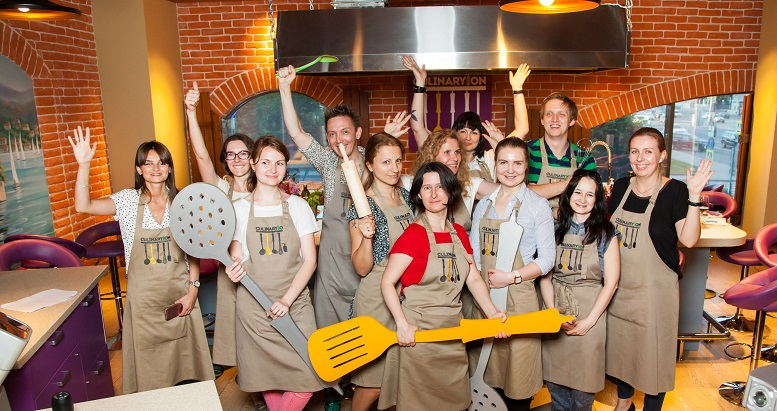 A culinary master class was held for the editors in Moscow