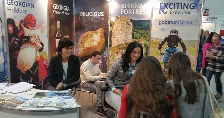 Ajara at the tourism exhibition in Poznan
