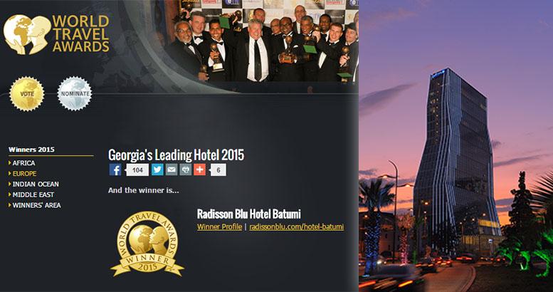 Radisson Blu Hotel, Batumi snatches another Tourism ''Oscar''
